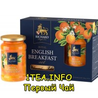 Набор Чай Ричард Royal English Breakfast 180гр + апельсиновый джем 340 г.