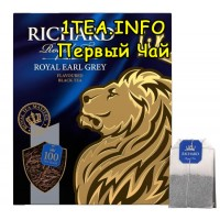 Чай Ричард Lord Grey бергамот и лимон 100 пакетиков