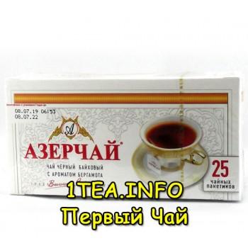 Чай Азерчай с бергамотом чёрный 25 пак.