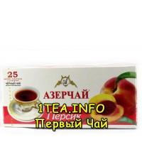 Чай Азерчай чёрный Персик 25 пак.