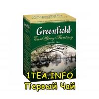 Greenfield Earl Gray Fantasy ГРИНФИЛД Эрл Грей Фэнтази черный листовой с добавками 100 грамм