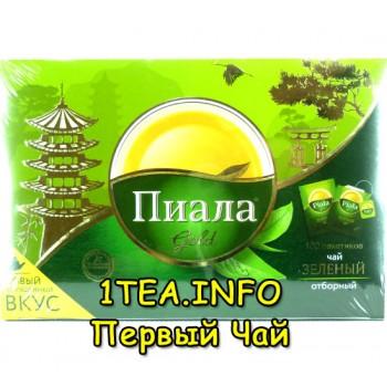 Чай Пиала Зеленый 100 пакетиков