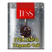 Tess Christmas Nuts ТЕСС Кристмас Натс черный листовой с добавками в железной банке 110 гр.