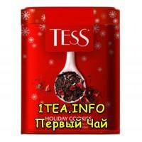 Tess Holiday Cookies ТЕСС Холидей Кукис черный листовой с добавками в железной банке 110 гр.