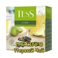 Tess Lime ТЕСС Лайм зеленый с добавками 100 пакетиков