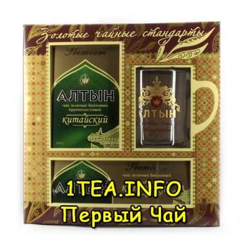 Чай Алтын Китайский зеленый набор чая с кружкой